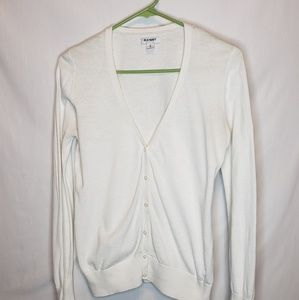 Womens Old Navy White Cardigan | Size Medium